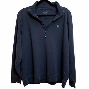 Men's Vineyard Vines Navy Quarter Zip Sweatshirt